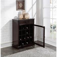 Meridian File Cabinet Rails by Kent 12 Bottle Black Bar Cabinet Sk19135 The Home Depot