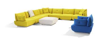 canapé composable canapé modulable contemporain en tissu 7 places et plus