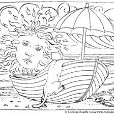 Coloring Pages Free Of Beach Landscape