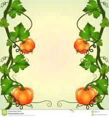 A pumpkin vine decor stock vector Image of leaves clip