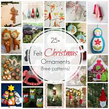 25 Felt Christmas Ornaments Free Patterns Crafts Felt Ornament