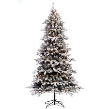 Christmas Tree 75 Pre Lit by The Holiday Aisle Pre Lit Flocked 7 5 U0027 Bennington Fir Artificial