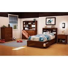 South Shore Libra Collection Dresser Chocolate by Willow Twin Bookcase Headboard Hayneedle
