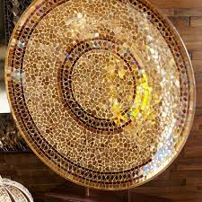 chagne decorative mosaic platter with stand pier 1 imports