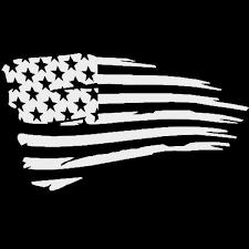 Vinyl Decal American Flag U Pick Color Laptop Car Motorcycle Helment Sticker 14 CraftieDecor