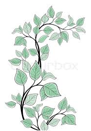 Vector drawing of the tree branch easy to modify Stock Vector