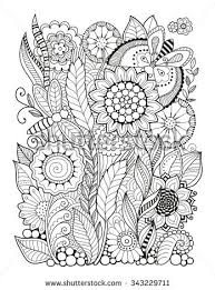 Coloring Book For Adult Summers Flowers