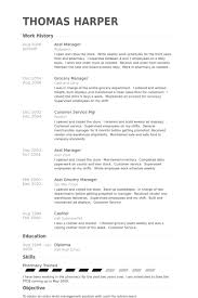 Asst Manager Resume Example