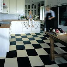 Marmoleum Bathroom Floor Black White Tiles Click