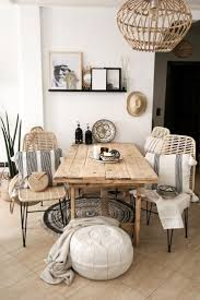 boho dining room with items from our shop