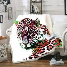 new 3d animal printed throw fleece blanket soft warm