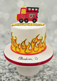 100 Fire Truck Cupcake Toppers Truck Birthday Cake The French Cake Company