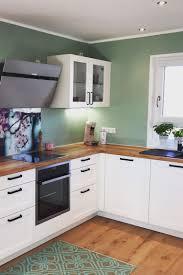 farbe trendfarbe jadegrün küche landhausstil wohnung