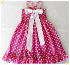 pink polka dot dress for little girls pink and white frilly