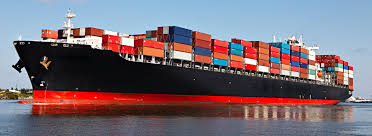 Container Truck Ship In Port And Freight Cargo Plane Transpo