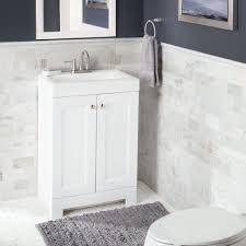 Glacier Bay Bathroom Storage Cabinet by Glacier Bay Shaila 24 5 In W Bath Vanity In White With Cultured