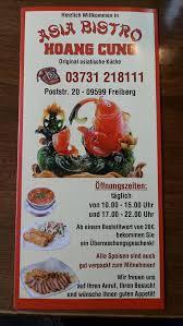 menu at asia bistro hoang cung restaurant freiberg