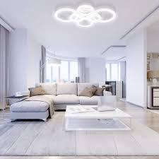 anten deckenleuchte led dimmbar 40w 3000lm deckenle 6 kreise mit fernbedienung moderne pendelleuchte aus acryl in weiß für wohnzimmer