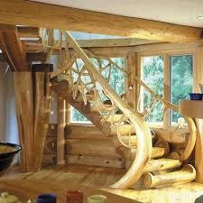 un escalier en rondins maison rondin escaliers