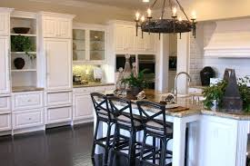 White Kitchen Wood Floors Full Size Of Cabinets With Granite And Dark 1