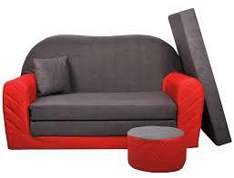 canape enfant sofa enfant 2 places convertibles bi color gris w282 03
