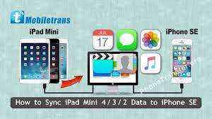 How to Sync iPad Mini 4 3 2 Data to iPhone SE Transfer Files from