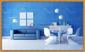 Creative Wall Painting Ideas For Living Room Blue Colors