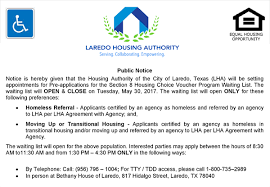 LHA to Open Section 8 Waiting List