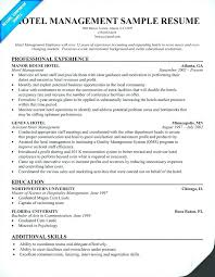Resume Template For Hospitality Sample Hotel Cute Management