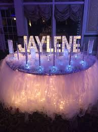 Quinceanera Decorations For Hall by Candle Ceremony Set Up Winter Wonderland Sweet 16 Winter