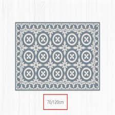 china form vinylweinlese matte mit dekorativem fliese muster