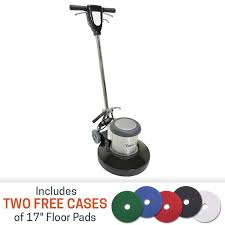 Clarke Floor Scrubber Pads by Task Pro 17 Inch 1 5 Hp Floor Buffer With 2 Free Cases Of Pads