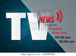 Illustration Of Vector Breaking News Banner Broadcast Design Report Template On Glowing