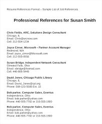 Resumes With References Resume Reference Page Sample