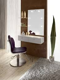 Makeup Desk With Lights by Makeup Table With Lights And Mirror Varnished Wooden Vanity