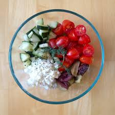 Greek Salad with Cottage Cheese Gluten Free Awesome lunch idea