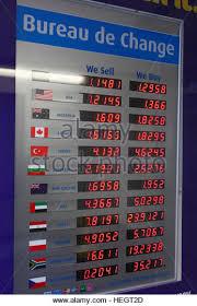 bureau change exchange rate board stock photos exchange rate board stock images