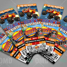 Great Blaze And The Monster Machines Ticket Style Cartoon Invites ... Blaze And The Monster Machines Invitation Birthday Truck Cake Cbertha Fashion And The Party Supplies Canada Open Amazoncom Invitations 8ct Its Fun 4 Me 5th Themed Alanarasbachcom Machine By Free Printable Cupcake Fill In Design Sophisticated