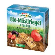 spar natur pur bio müsliriegel früchte 6 stück à 25g