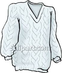 White Cable Knit Sweater Royalty Free Clipart Picture