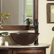 Menards Barrett Pedestal Sink by Sinkology Round Handmade Pure Copper Above Counter Vessel Sink In