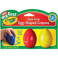 Crayola Bathtub Crayons Refill by My First Crayola Easy Grip Egg Shaped Crayons 3pc Blue Red And