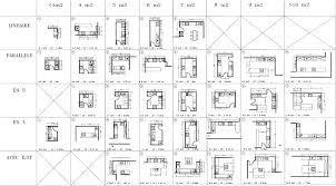 plan ilot cuisine taille ilot cuisine collection galerie avec impressionnant plan