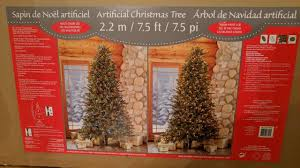 Costco 75 Artificial Pre Lit Christmas Tree Unboxing And Review