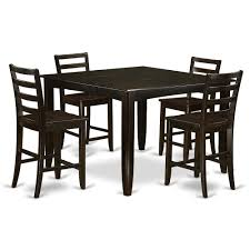 5 PC Pub Table Set- Square Table And 4 Kitchen Counter Chairs By East West  Furniture