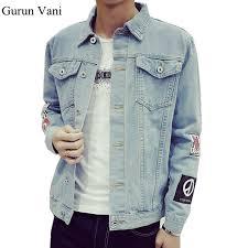 Mens Denim Jacket High Quality Fashion Jeans Jackets Slim Fit Casual Streetwear Vintage Jean Clothing