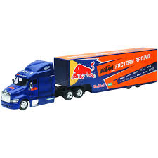 New Ray Toys Red Bull KTM Transporter Truck 1:43 Scale Die-Cast ... Newray 132 Scale Peterbilt Red Bull Ktm Race Team Truck Die Cast Newray Patriot Missiles 60 Launcher End 42520 1110 Am Newray Kawasaki Two Factory Gift Set Dc 379 Tow By New Ray Nryss12053 Toys Transporter 143 Diecast Single Dump W Wheel Loader Diecast New Ray Rch Suzuki Bevro Intertional Webshop 389 Cab Toy For Kids Youtube The Lvo Vn780 Semi With Trailer Long Hauler 14213