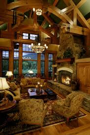 Storm Mountain Ranch House Rustic Living Room