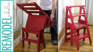 100 Printable Images Of Wooden Folding Chairs How To Build A DIY Ladder Chair SpaceSaving Multipurpose Step Stool