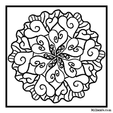 Free Valentines Mandala Coloring Page 31
